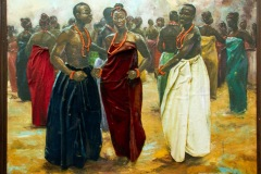 PNT096-Dancing-Women-and-Chiefs-by-Kola-Bamidele-42x51inches