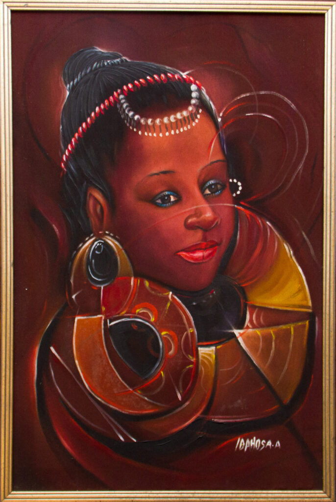 PNT021 African Madian 2x3ft by Ambrose Idahosa