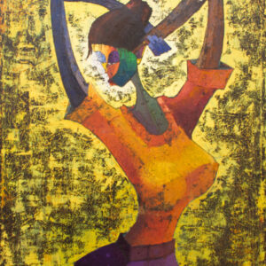 PNT047 Sensuality An Abstract Lady 3x4ft by Taiwo Owoyemi