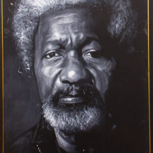PNT054 Wole Soyinka Monochrome 33X47INCHES by Femi Williams
