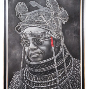 PNT055 Oba Ewuare II (monochrome)34x46inches by Kamere Emosivbe (2007)