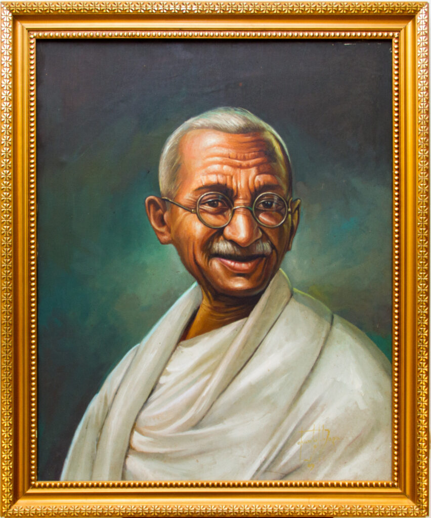 PNT078 Matatma Gandhi 28x34inches by El Dragg (2009)