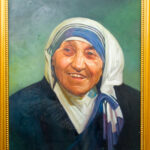 PNT084 28x34inches Mother Theresa by El Dragg
