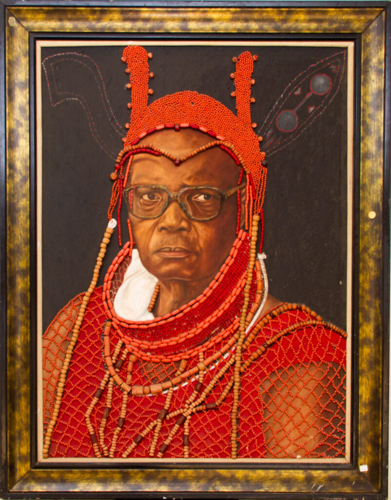 PNT097 Oba of BENIN by Uyi 56x44inches